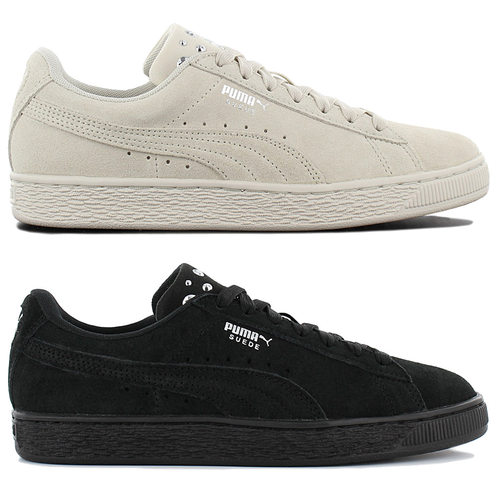 Details about Puma Suede Jewel Women's Fashion Sneaker Shoes Leisure Leather Trainers New