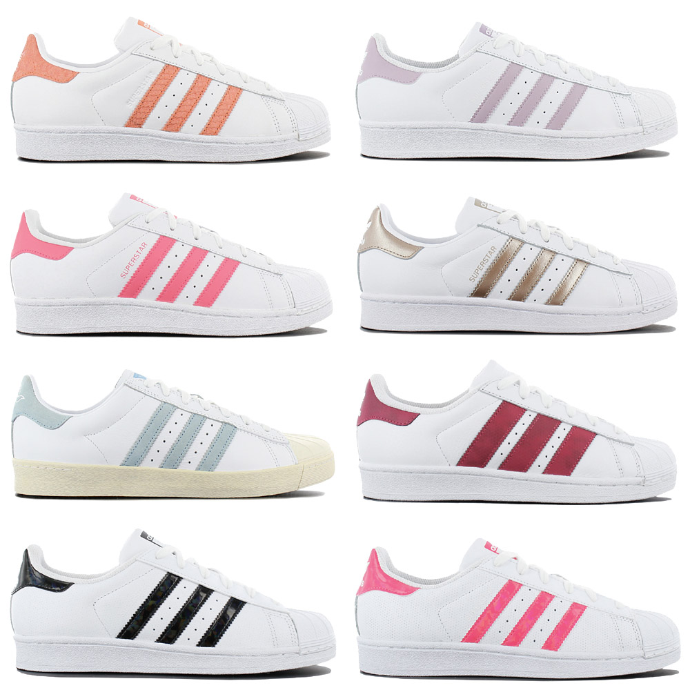 Details about Adidas Originals Superstar Sneaker Women's Shoes Leather Trainers White Trainers