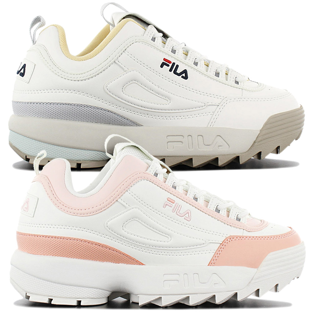 Détails sur Fila Disruptor CB Low Cuir Sneaker Femme Chaussures de Loisir Plateau Sport Neuf