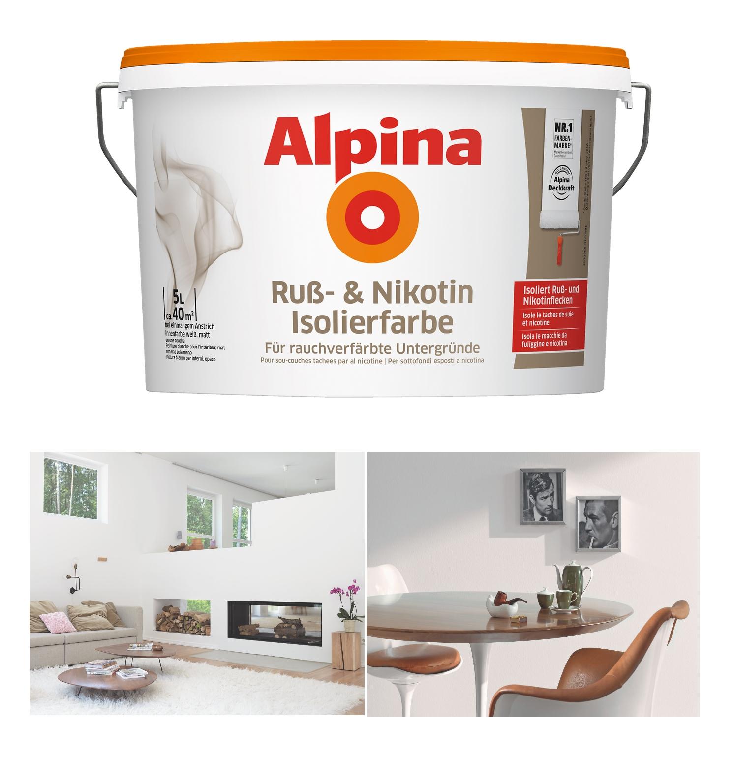 Alpina Bad Küchenfarbe: Rühl Farben 5 L Design White Innenfarbe Biala, Weiß, Matt