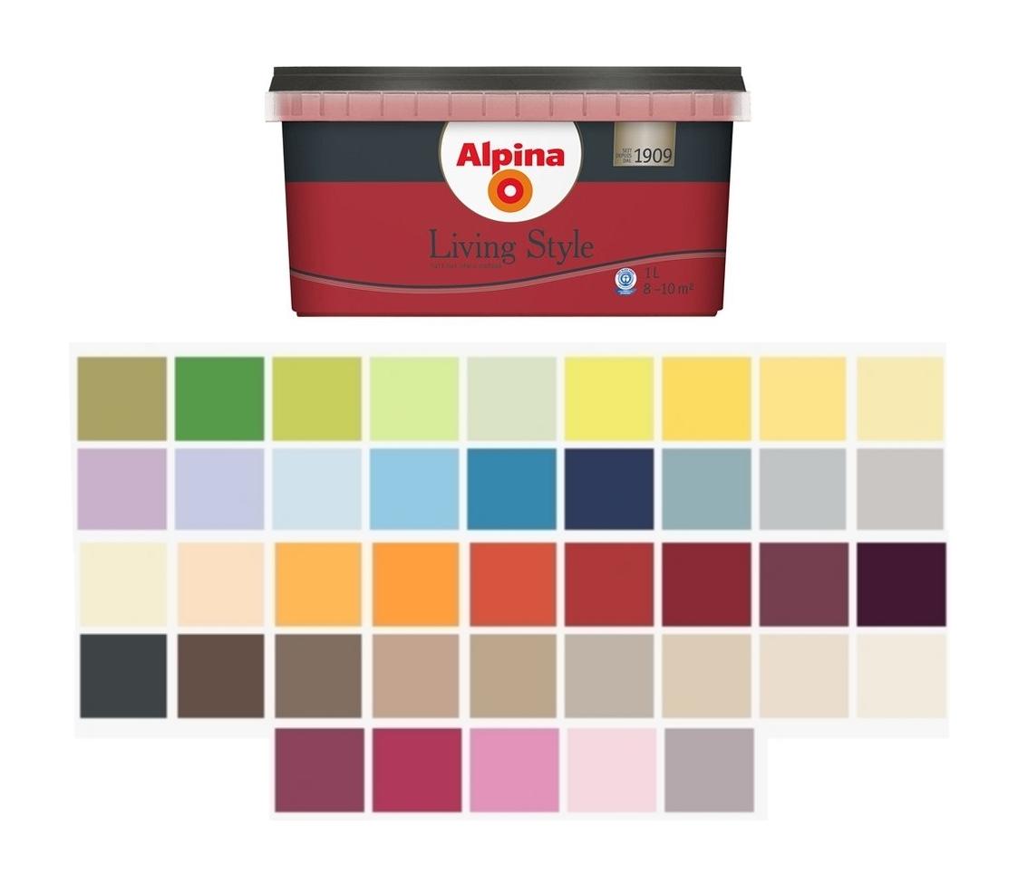 Alpina 1 L Living Style Bunte Wandfarbe Tropfgehemmt Farbintensiv Farbwahl