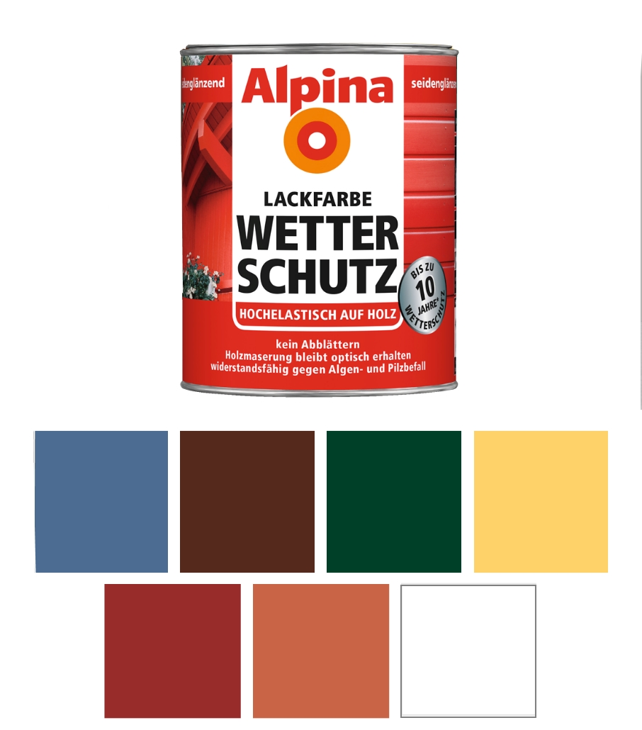 alpina 750 ml buntlack f r aussen wetterschutz ral 6005 moosgr n gl nzend. Black Bedroom Furniture Sets. Home Design Ideas