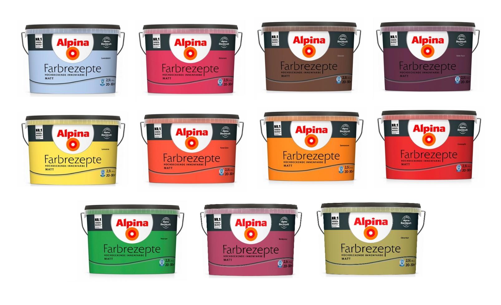 Alpina 5 L. Bad und Küchenfarbe, Filmschutz gegen Schimmel ...