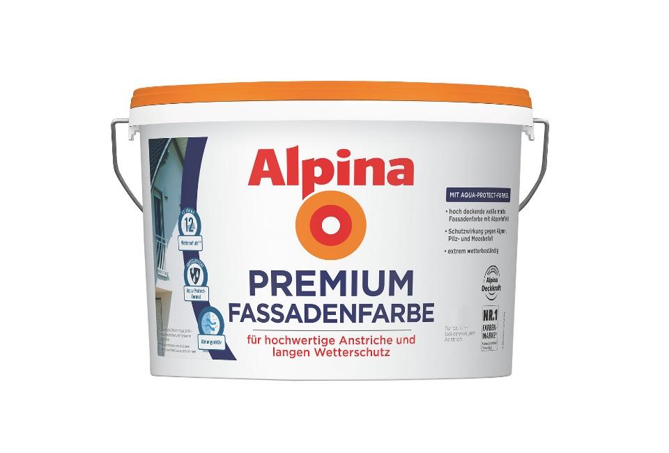 alpina fassadenclean au enfarbe wei 10 l selbstreinigend 5 99 l neu. Black Bedroom Furniture Sets. Home Design Ideas