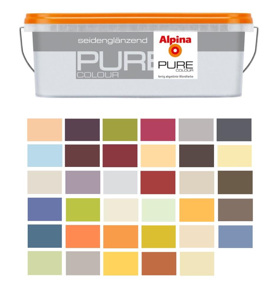 Alpina pure colour 2 5 liter bunte wandfarbe - Verschiedene wandfarben ...