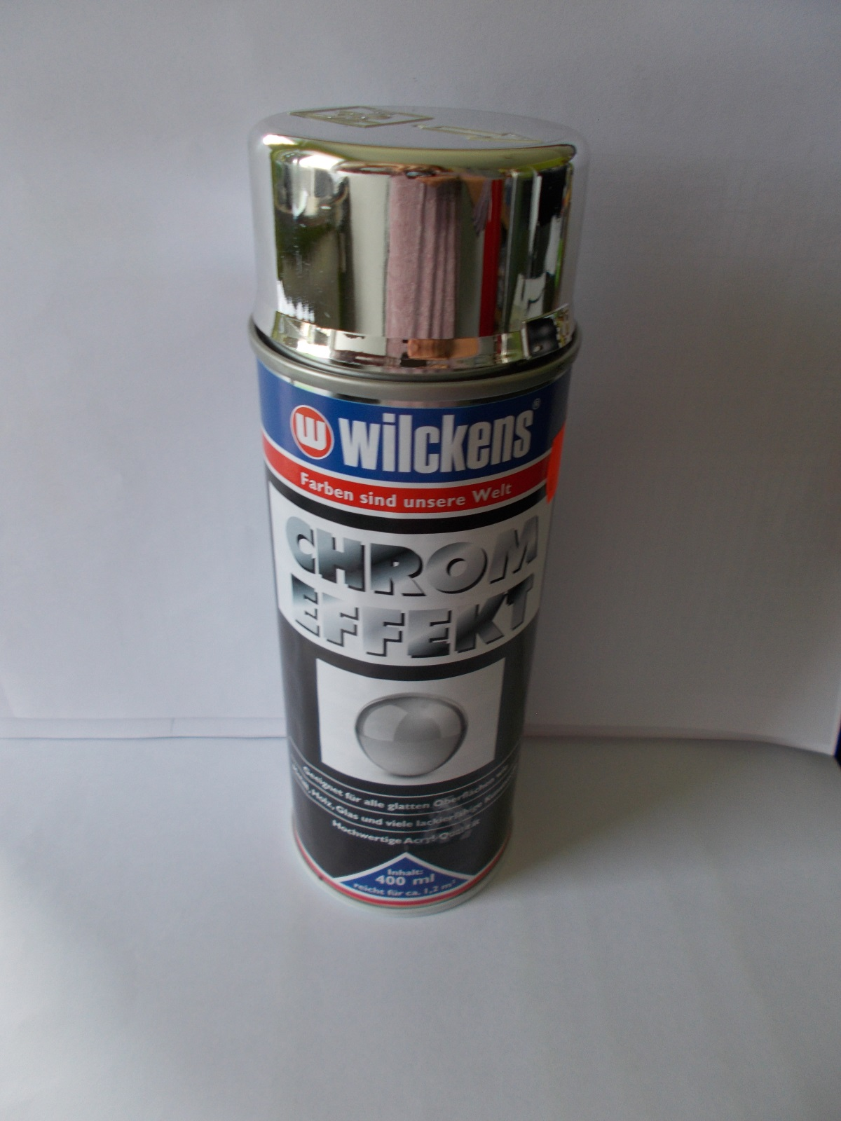 Wilckens Spray 400 ml Chrom Effekt, Effektlack, Metall, Holz, Glas, Sprühdose