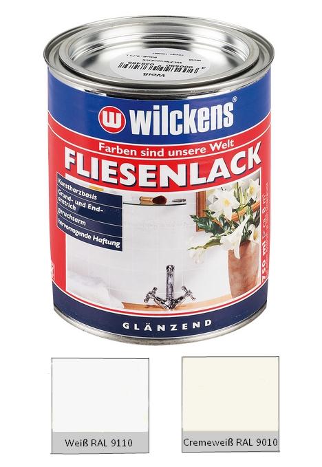 wilckens 750 ml fliesenlack wei ral 9110 cremewei ral 9010 gl nzend 10 l. Black Bedroom Furniture Sets. Home Design Ideas
