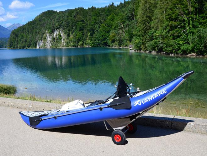 Sit on top Touren Kajak für 2 Personen 400 cm mit Hochdruck Boden Bootsport