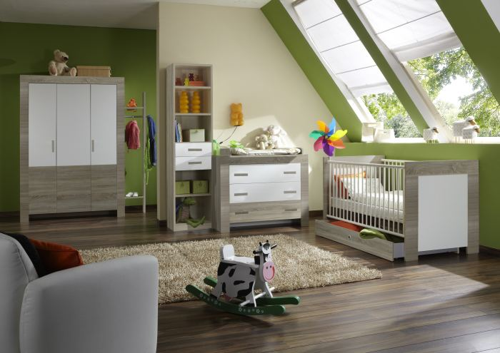 8tlg babyzimmer komplett set baby schrank bett. Black Bedroom Furniture Sets. Home Design Ideas