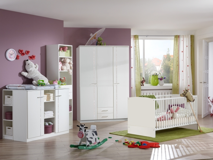 Babyzimmer möbel weiß  Elly Weiß 5-teilig