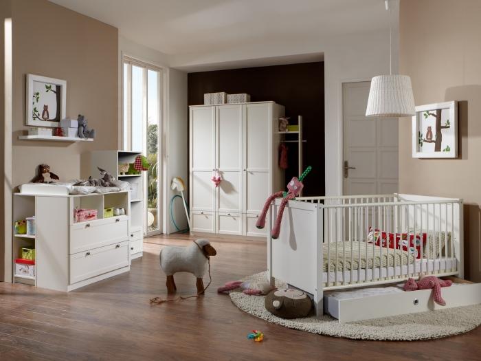 top angebot 8tlg babyzimmer baby schrank bett weiss filou 109264 ebay. Black Bedroom Furniture Sets. Home Design Ideas