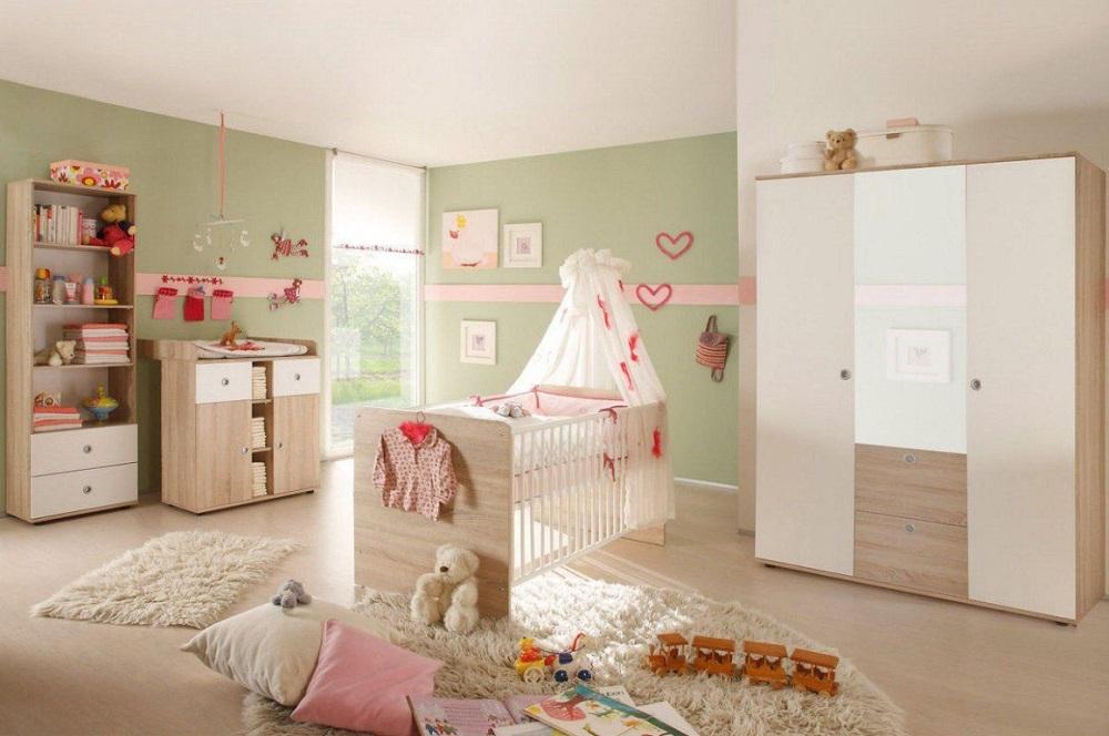 Babyzimmer Wiki in Eiche Sonoma Weiß von Begabino