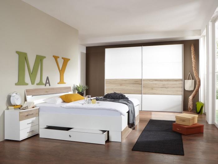 schlafzimmer easy san remo wei komplett doppelbett kleiderschrank 109610 ebay. Black Bedroom Furniture Sets. Home Design Ideas