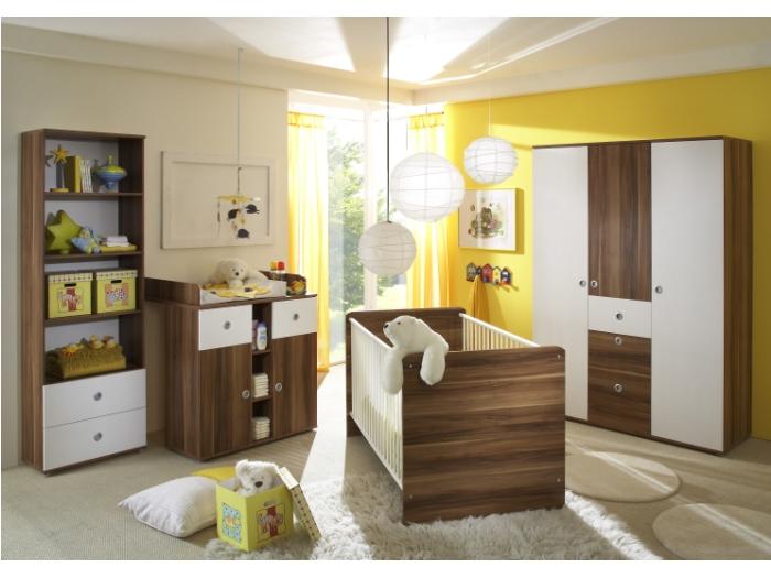 Babyzimmer 4-teilig Wiki Kinderzimmer Sonoma Eiche sägerau und weiß
