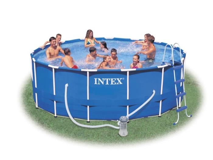 intex 28236gn metal frame 457 x 122 cm stahlrahmen swimming pool ohne zubeh r ebay. Black Bedroom Furniture Sets. Home Design Ideas
