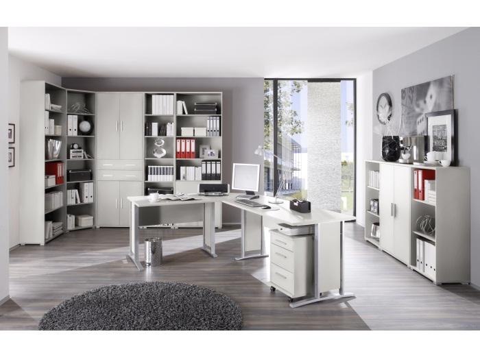 Büromöbel Office Smart Lichtgrau 11 teilig Büro Schreibtisch ...