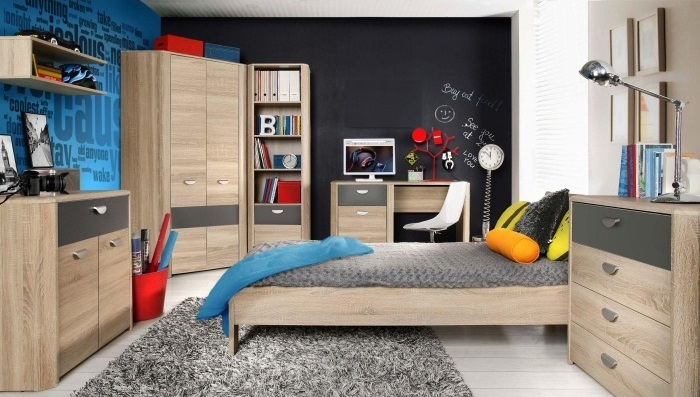 Jugendzimmer Yoop 7tlg Kinderzimmer Mobel Set Eckkleiderschrank