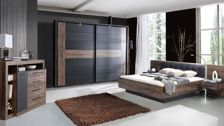 schlafzimmer bellevue mit schwebet renschrank inklusive beleuchtung bett 109877 ebay. Black Bedroom Furniture Sets. Home Design Ideas