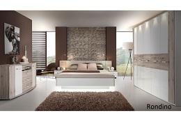 schlafzimmer rondino in sandeiche von forte megaset mit drehturenschrank bettanlage sitzbank kommode