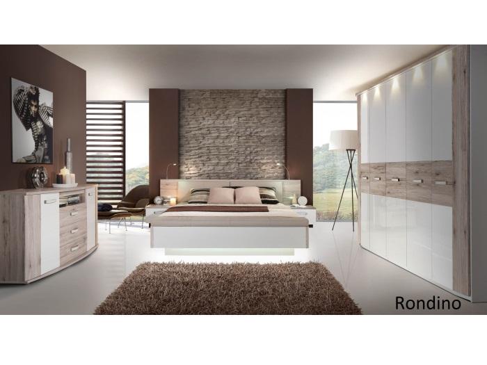 Schlafzimmer Rondino Mit Drehtürenschrank Inkl Beleuchtung Bett