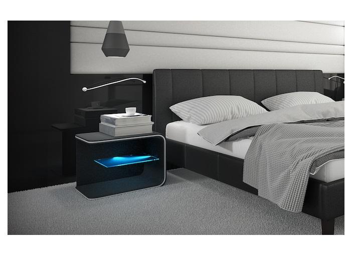 Cheap Nachttisch Spirit Schwarz Mit Led With Nachttisch Mit Led Beleuchtung