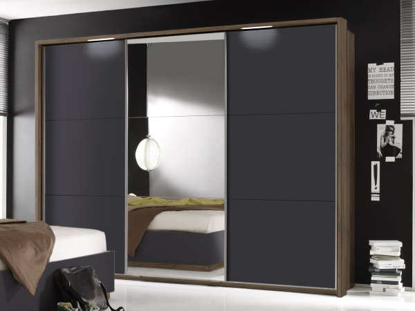 schlafzimmer dandy schwarz kommode schlafen bettanlange schwebet renschrank10137 ebay. Black Bedroom Furniture Sets. Home Design Ideas
