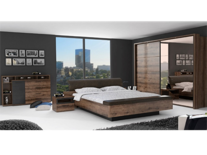 schlafzimmer jacky komplett bett fu bank kleiderschrank beleuchtung kommode10214 ebay. Black Bedroom Furniture Sets. Home Design Ideas