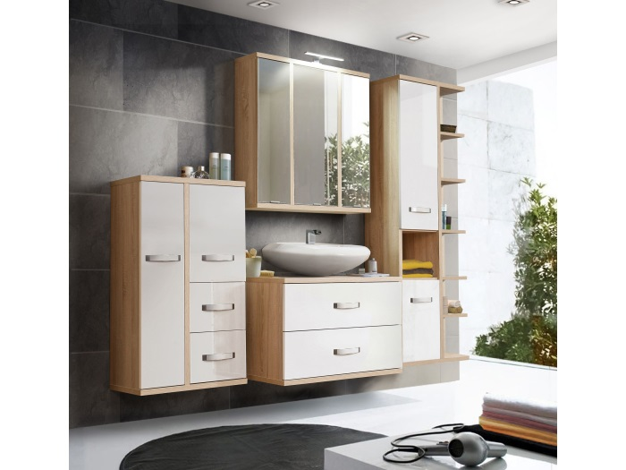 Badezimmer Ducato Bad Badezimmermöbel komplett Spiegelschrank ...