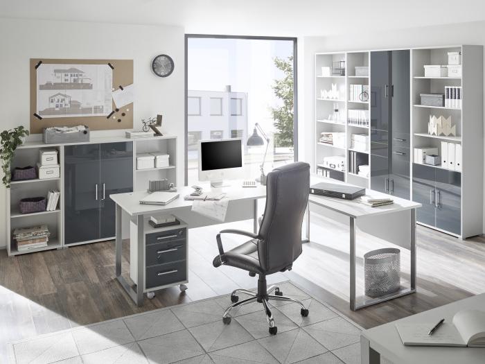 Buro Office Line Luxo 9 Teilig Buromobel Komplettset Schreibtisch