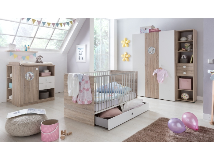 babyzimmer set saskia 3tlg komplettset kinderzimmer. Black Bedroom Furniture Sets. Home Design Ideas