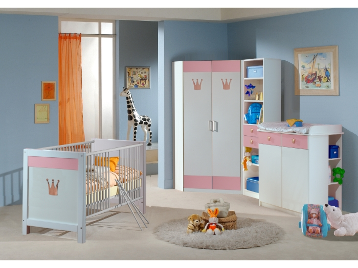 babyzimmer cinderella 6tlg komplett set eckschrank. Black Bedroom Furniture Sets. Home Design Ideas