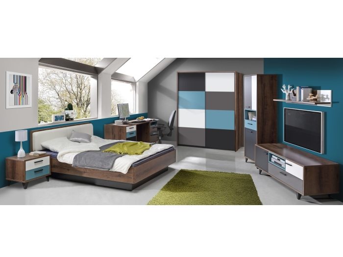 jugendzimmer raven 7 tlg 120er bett und schwebet renschrank 110368 ebay. Black Bedroom Furniture Sets. Home Design Ideas