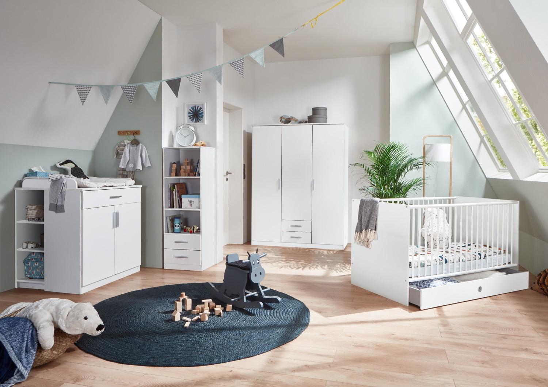 Babyzimmer Kiel 7 teilig in Weiß von Wimex