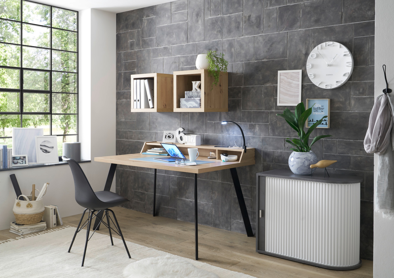 Büromöbel Big Office in Asteiche, Graphit und Weiß