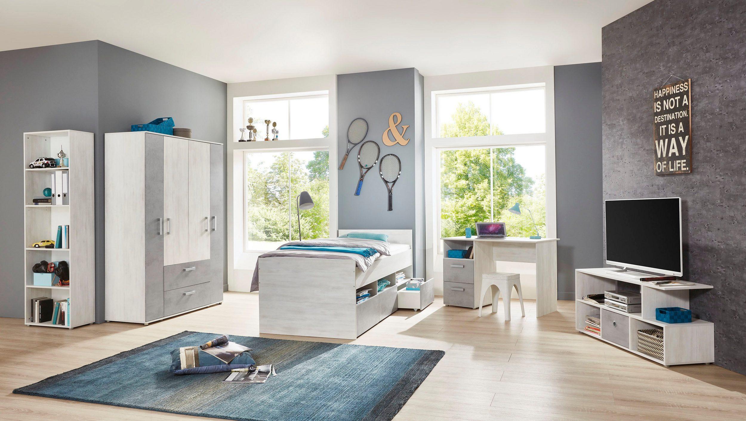 Kinderzimmer Insa 5 Teile in White Washed Wood und Stone von Arthur Berndt