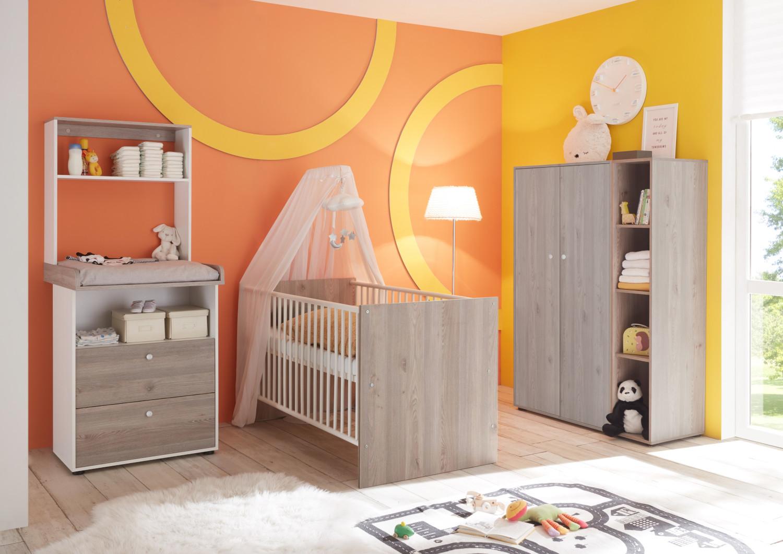Babyzimmer Merida SPARSET in Nelson Eiche und Anderson Pine von Mäusbacher