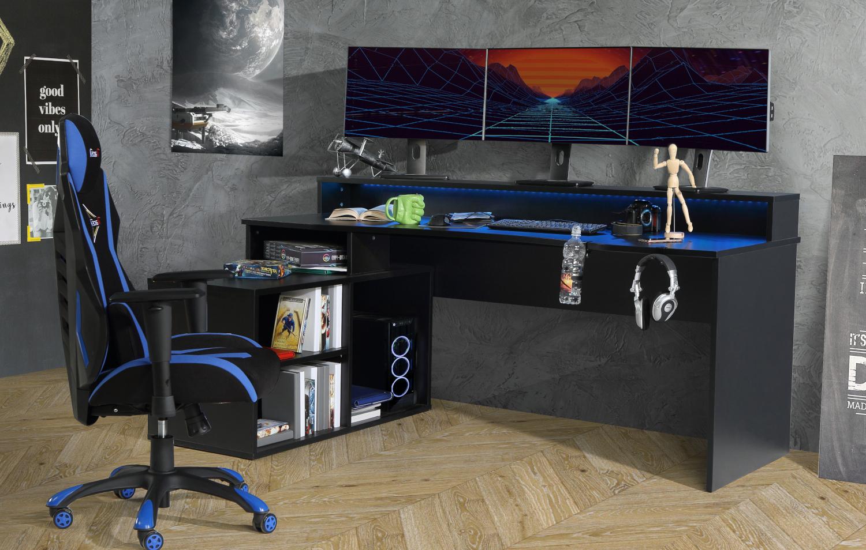 FORTE Gamingtisch Tezaur mit RGB-Beleuchtung verschiedene Varianten
