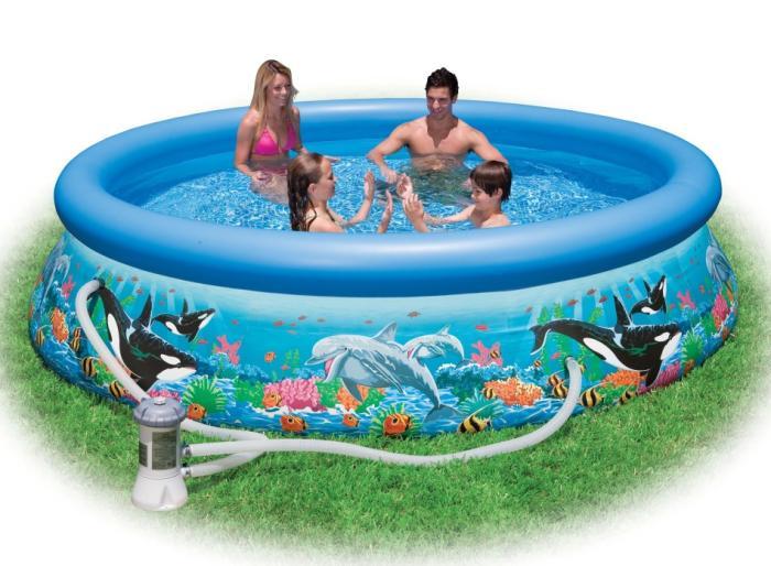 Intex 28136 quick up 366 x 76 cm easy set swimming pool aufblasbar komplettset ebay - Quick up pool zubehor ...