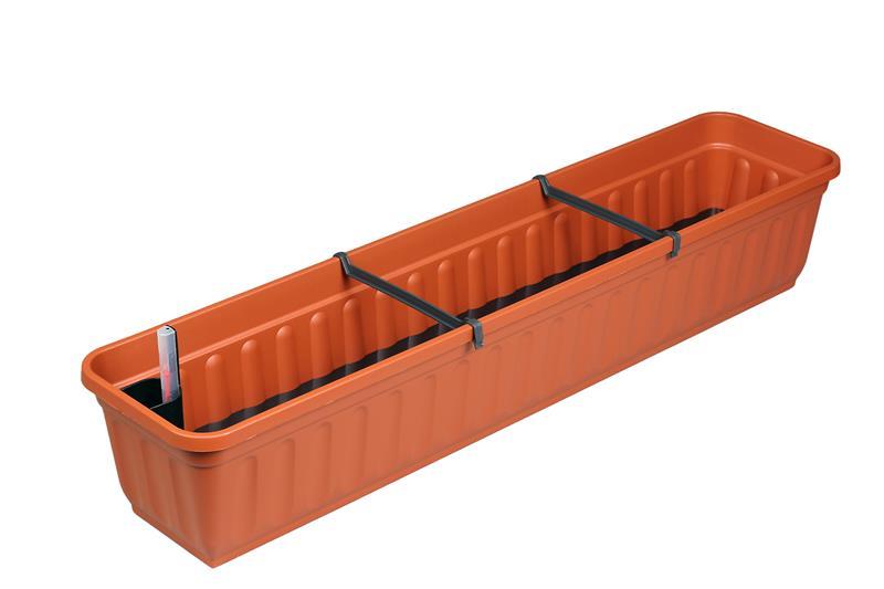 xxl balkonkasten blumenkasten mit bew sserungssystem 100cm 5 farben w hlbar ebay. Black Bedroom Furniture Sets. Home Design Ideas