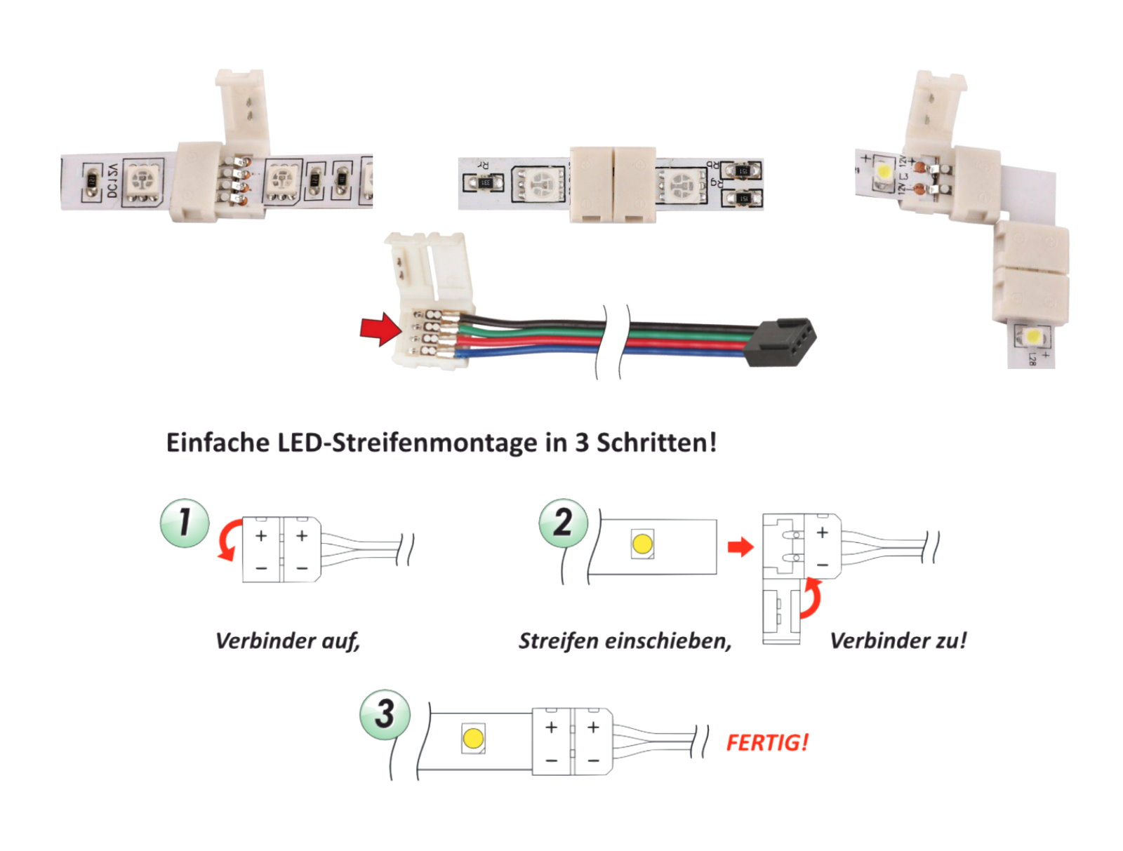 LED Lichtband Adapter Premium