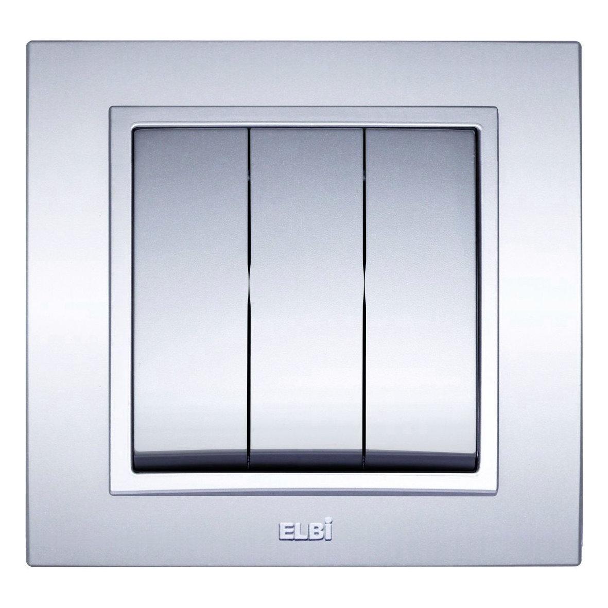 EL-BI Schalter ZENA metallic-silber