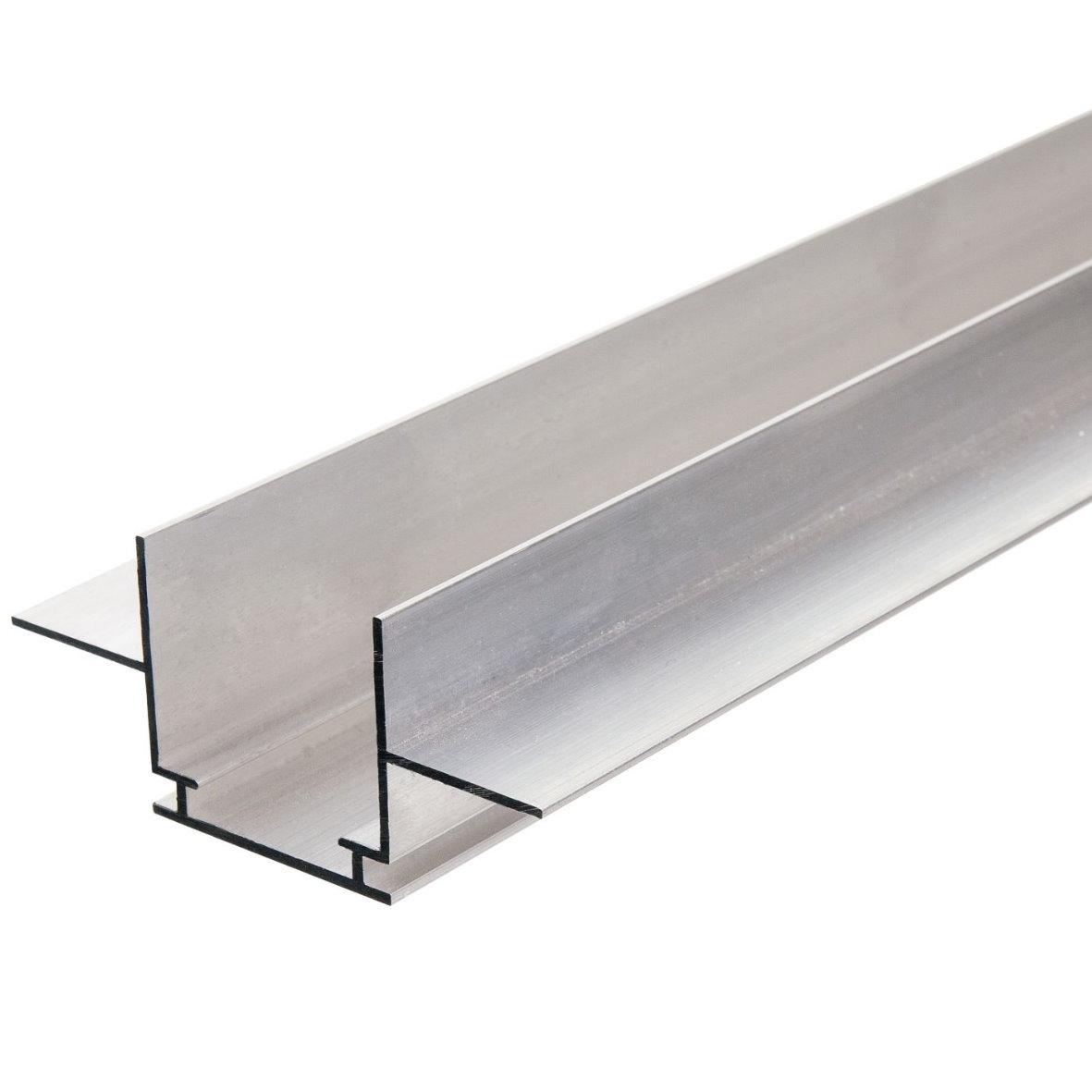 led aluminium profil aluprofil abdeckung eloxiert strip lichtband ebay. Black Bedroom Furniture Sets. Home Design Ideas