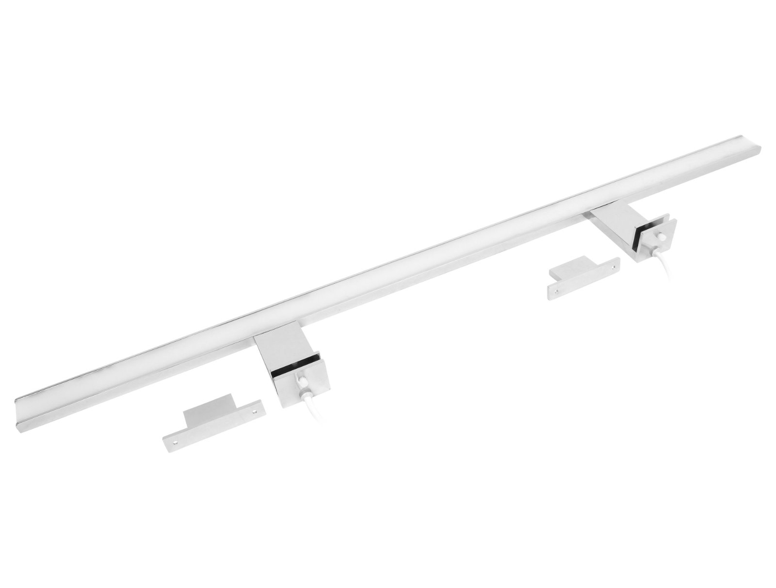 LED 2in1 Aluminium Spiegelleuchte IP44 - 13W warmweiß