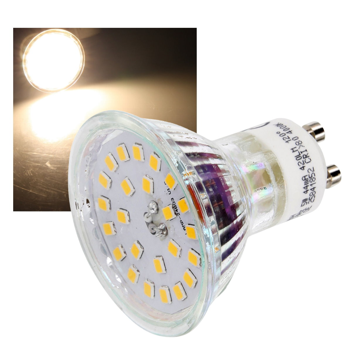 led strahler spot leuchtmittel gu10 230v mr16 120 5w 400lm licht lampe ebay