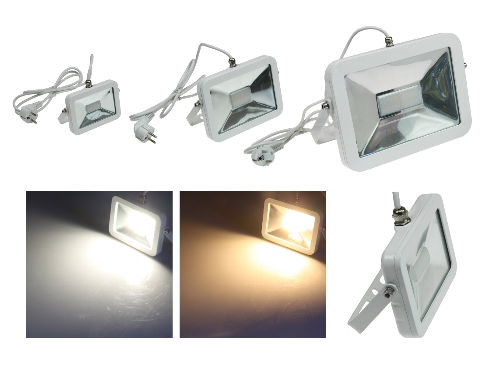 LED Slim Aussenfluter Plug & Light
