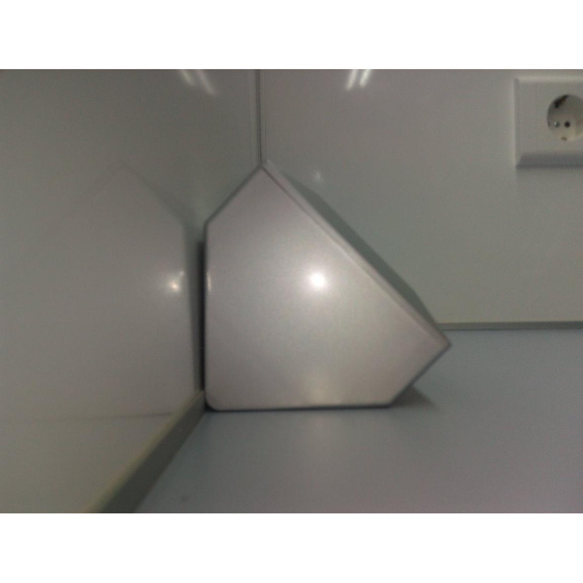 Aufbausteckdose Küche | Aufbau Steckdose 3 Fach Silber 21666