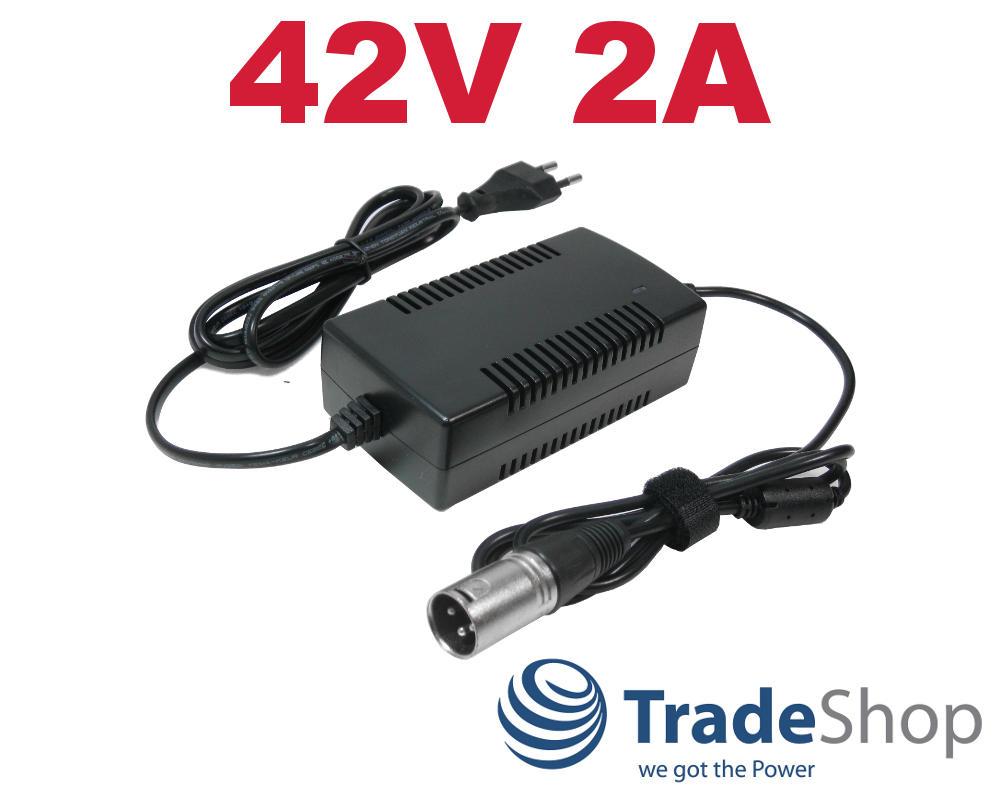 1 mm pour Aldi LIDL ebike elektrorad Alimentation chargeur 42 V 3 A POUR 36 V batteries 5,5x2
