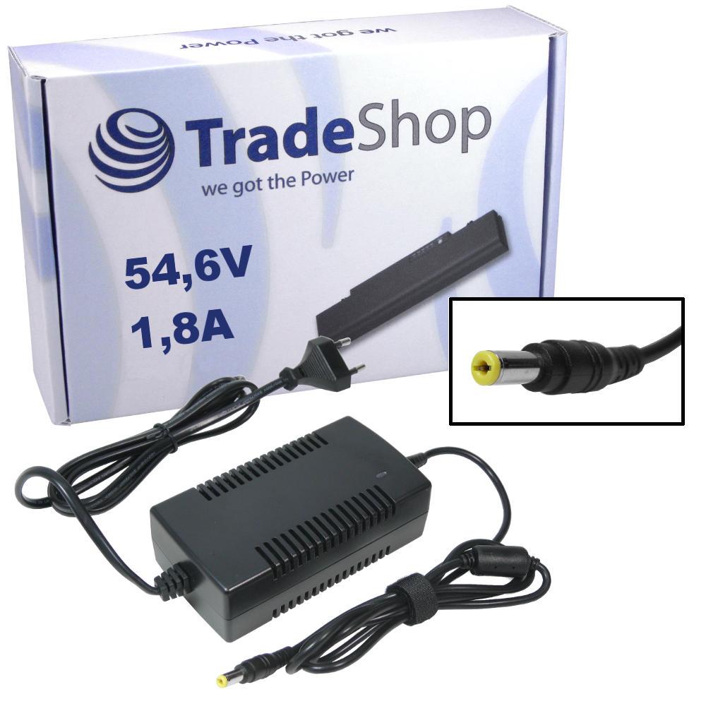 Netzteil Ladegerät Ladekabel 54,6V  2A für 48V Elektro Fahrrad Roller 5,5x2,1mm