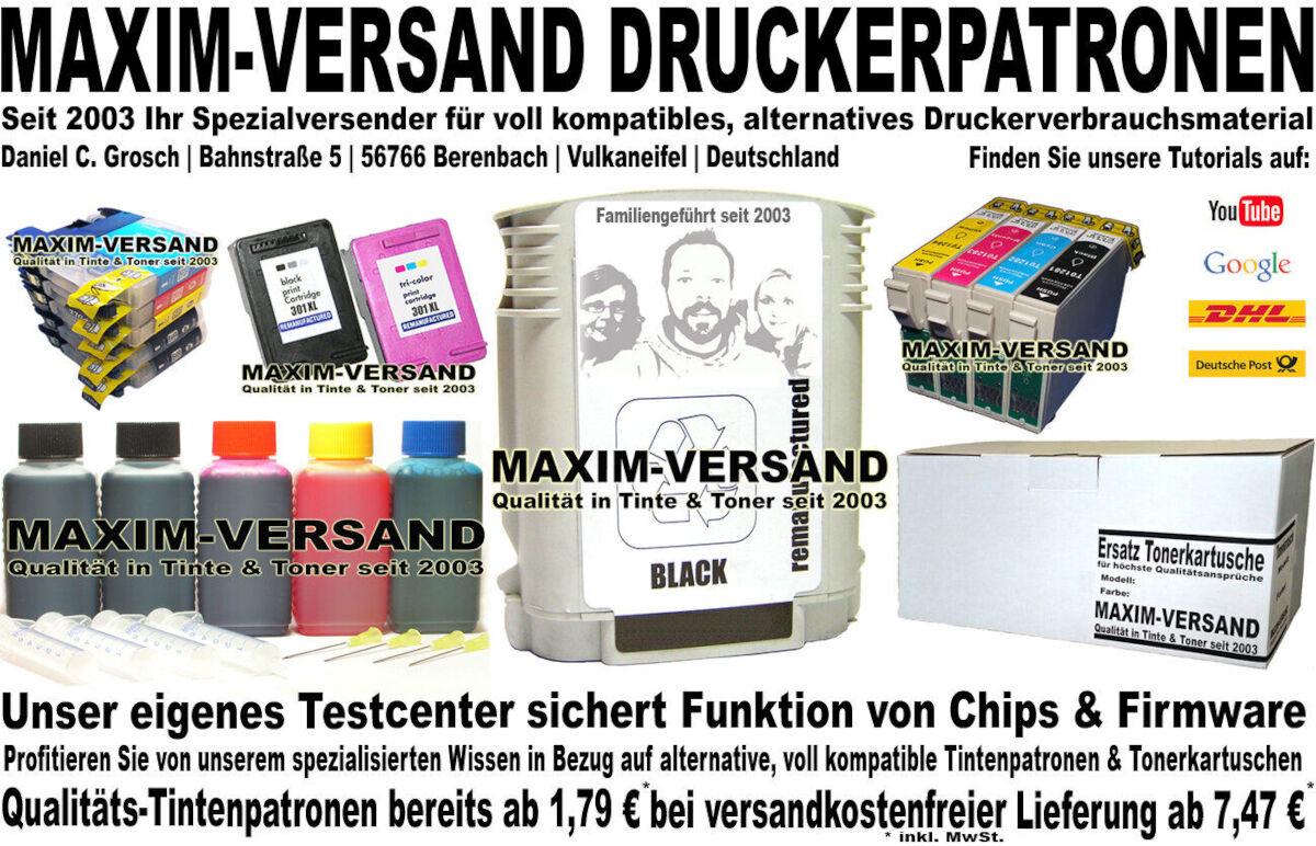 Druckerpatronen von MAXIM-VERSAND