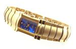 Exklusive Designer Damenuhr vergoldet DR01A blau
